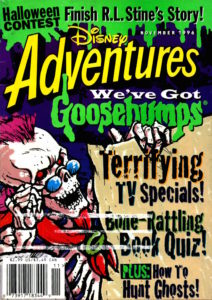 Disney Adventures Goosebumps contest