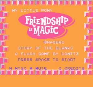 Friendship is 8-Bit Story of the Blanks by Donitz